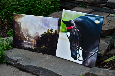 """Gallery wrapped canvases display stunning image quality with a unique """"floating"""" effect when hanging on your wall."""
