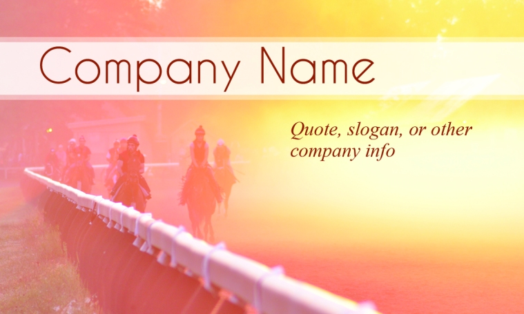 Equine Business Card Template 2 Front